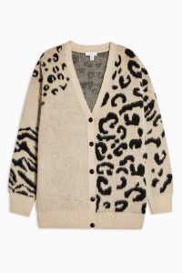 Topshop Mixed Animal Knitted Cardigan | slouchy knits