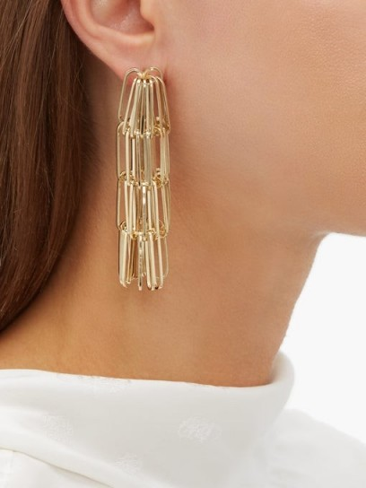 ROSANTICA BY MICHELA PANERO Muse tiered chain-drop earrings ~ gold-tone drops
