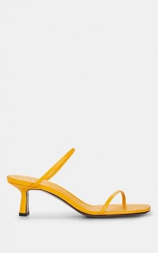 NEOUS Fadenia Yellow Leather Sandals