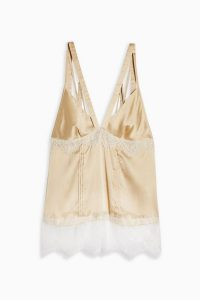 Topshop Nude Lace Panel Cami | deep V-neck camisole