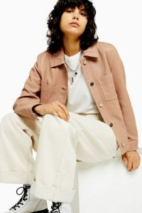 TOPSHOP Nude Leather Western Jacket ~ casual luxe jackets