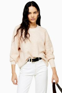 Topshop Oat Super Soft Jumper | neutral sweater