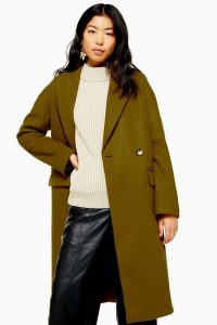 Topshop Olive Double Breasted Coat | Fall colours
