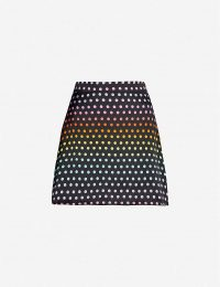 OLIVIA RUBIN Libby rainbow polka-dot silk-satin skirt