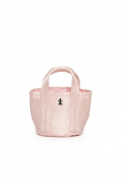 Opening Ceremony SATIN MINI BUCKET BAG PINK SALT - flipped