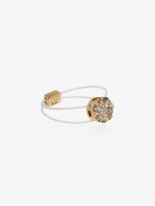 Persée 18K Yellow Gold Floating Diamond Ring / delicate illusion rings - flipped