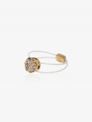 Persée 18K Yellow Gold Floating Diamond Ring / delicate illusion rings