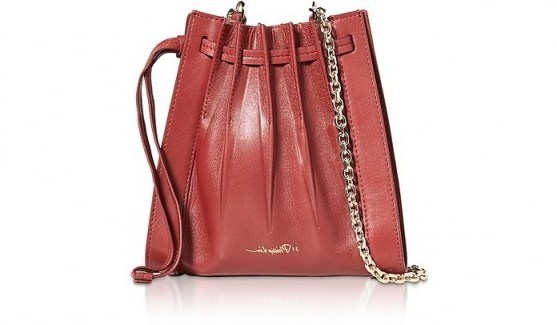 3.1 PHILLIP LIM Florence Mini Pleated Drawstring Tote Bag in Brick - flipped