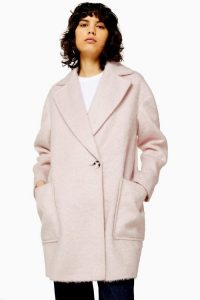 TOPSHOP Pink Double Breasted Coat ~ Autumn wardrobe essential