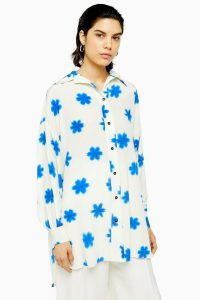TOPSHOP Printed Oversized Shirt By Boutique / silk loose fit shirts