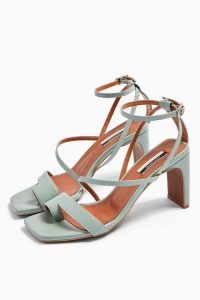TOPSHOP RIO Toe Loop Sandals in Sage