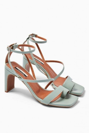 TOPSHOP RIO Toe Loop Sandals in Sage - flipped