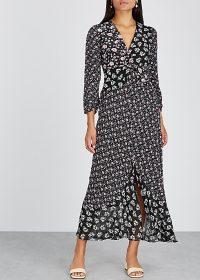RIXO Chelsea floral-print silk maxi dress / mixed flower prints