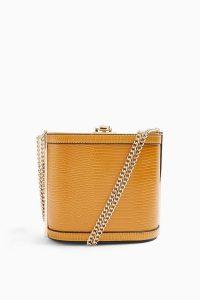 Topshop SADIE Mustard Shoulder Bag ~ small chain strap box bags