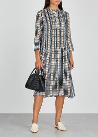 SAMSØE & SAMSØE Elm checked chiffon shirt dress