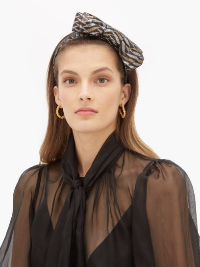 BENOÎT MISSOLIN Sarah bow metallic headband | statement headbands