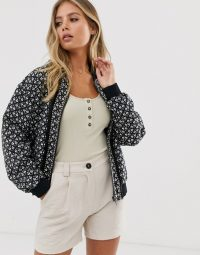 Sass & Bide boucle bomber jacket | casual collarless zip front jackets