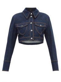 ELLERY Sheval cropped denim jacket in dark-blue