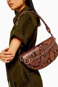 Topshop SIENNA Snake Shoulder Bag | reptile print bags