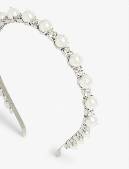 SIMONE ROCHA Pearl and crystal hairband