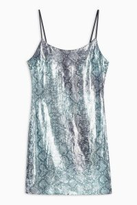 TOPSHOP Snake Sequin Bodycon Dress / shiny going out dresses