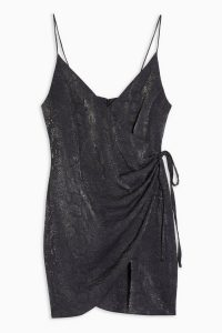 Topshop Snake Wrap Mini Slip Dress ~ evening cami dresses