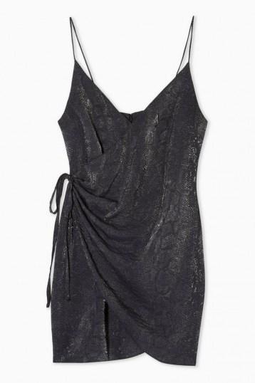 Topshop Snake Wrap Mini Slip Dress ~ evening cami dresses - flipped