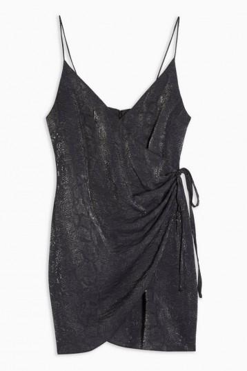 Topshop Snake Wrap Mini Slip Dress ~ evening cami dresses