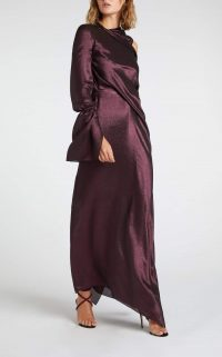 ROLAND MOURET SOLERA GOWN in Metallic Garnet ~ luxe event wear