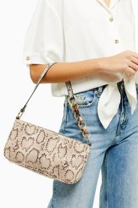 Topshop SPIN Snake Shoulder Bag