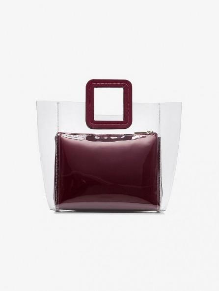 STAUD Burgundy Shirley leather PVC bag