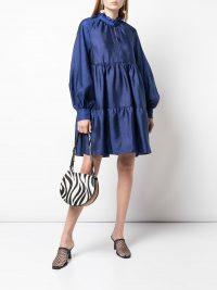 STINE GOYA Jasmine dress in Indigo – blue voluminous dresses