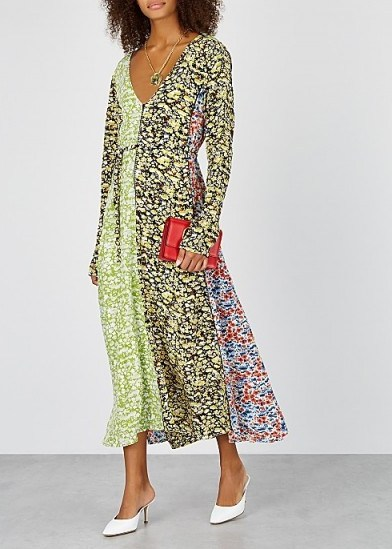 STINE GOYA Maca floral-print silk midi dress - flipped