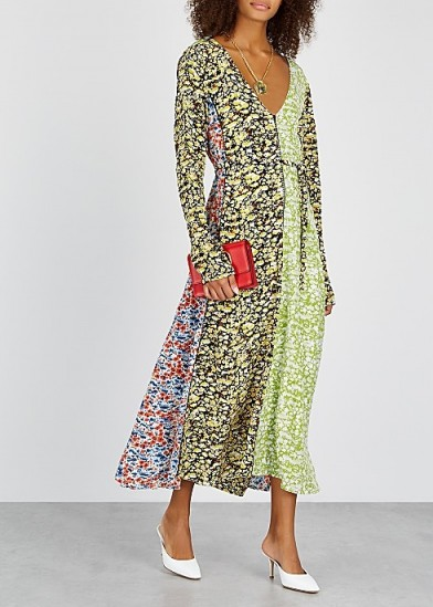 STINE GOYA Maca floral-print silk midi dress