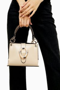 Topshop STORM Cream Buckle Shoulder Bag | chic and affordable handbag