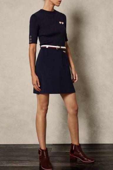 Ted Baker Elsbeth Knit Woven Dress