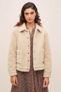 Ruby + Ed Teddy Faux-Fur Trucker Jacket | Fall Jackets