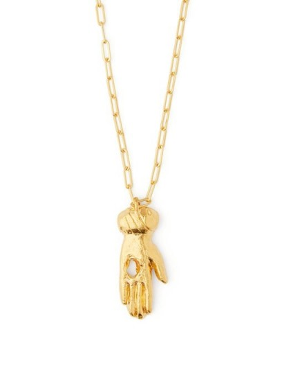 ALIGHIERI The Curator gold-plated hand pendant necklace