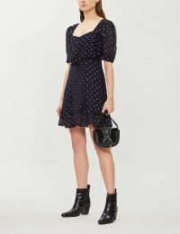 THE KOOPLES Metallic-spots fil-coupe dress