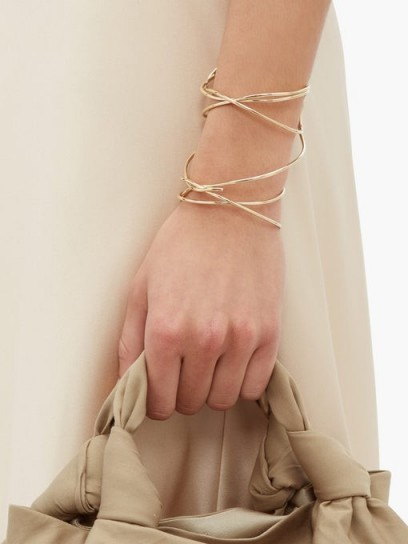 COMPLETEDWORKS The Meditations of a Fisherman gold-vermeil cuff | delicate jewellery