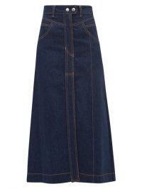 ELLERY Traffic A-line denim skirt