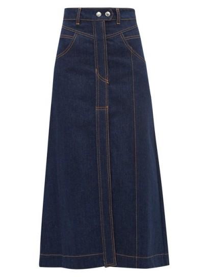ELLERY Traffic A-line denim skirt