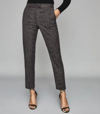 REISS VIVIANNA SNAKE PATTERNED TROUSERS GREY ~ chic pants