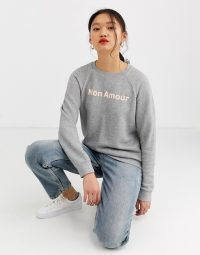 Whistles Mon Amour sweatshirt in grey