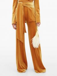 GALVAN Winter Sun velvet palazzo trousers ~ slinky pants