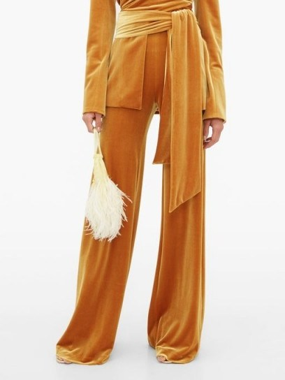 GALVAN Winter Sun velvet palazzo trousers ~ slinky pants - flipped
