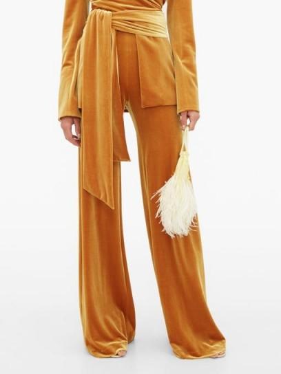 GALVAN Winter Sun velvet palazzo trousers ~ slinky pants