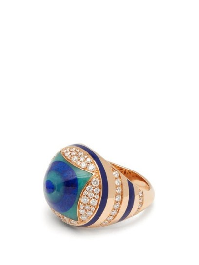 Francesca Villa You Spin Me Around diamond & lapis ring | luxe statement jewellery