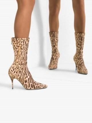 Zimmermann Brown Leopard Print Boots - flipped