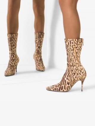 Zimmermann Brown Leopard Print Boots